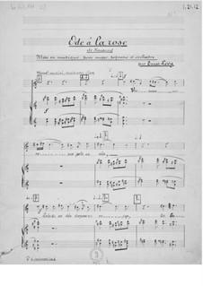 Ode à la rose für Stimme und Orchester: Klavierauszug mit Singstimmen by Ernst Levy