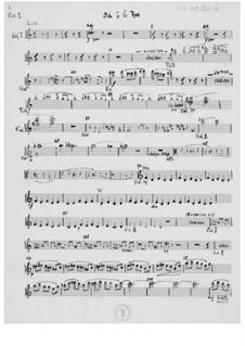 Ode à la rose für Stimme und Orchester: Orchesterstimmen by Ernst Levy