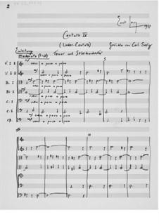 Kantate Nr.9 'Lieder-Cantate': Vollpartitur by Ernst Levy