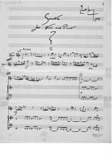 Sonate für Horn und Klavier: Sonate für Horn und Klavier by Ernst Levy