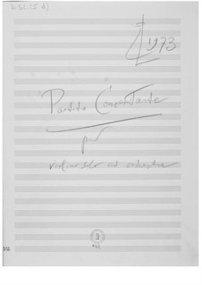 Partita concertante für Violine und Orchester: Skizzen by Ernst Levy