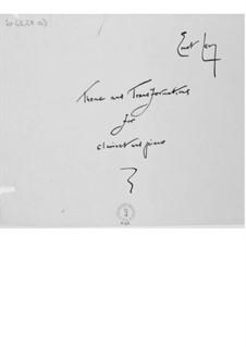 Thema und Transformationen für Klarinette und Klavier: Vollpartitur by Ernst Levy