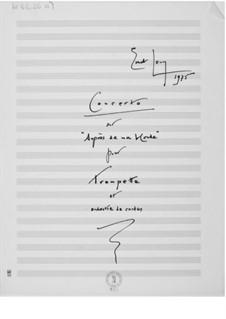 Konzert über 'Auprès de ma blonde': Vollpartitur by Ernst Levy