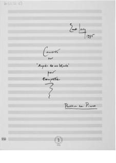 Konzert über 'Auprès de ma blonde': Für Trompete und Klavier by Ernst Levy