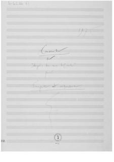 Konzert über 'Auprès de ma blonde': Skizzen by Ernst Levy