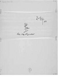 Trio Nr.1 für Violine, Bratsche und Cello: Vollpartitur by Ernst Levy