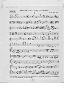 Trio Nr.1 für Violine, Bratsche und Cello: Stimmen by Ernst Levy