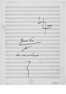 Trio Nr.2 für Violine, Bratsche und Cello: Vollpartitur by Ernst Levy