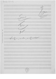 Trio Nr.2 für Violine, Bratsche und Cello: Skizzen by Ernst Levy