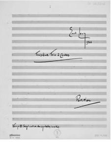 Trio Nr.3 für Violine, Bratsche und Cello: Vollpartitur by Ernst Levy