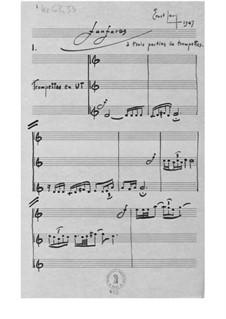 Fanfare für drei Trompeten: Fanfare für drei Trompeten by Ernst Levy