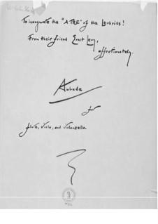 Aubade für Flöte, Bratsche und Cello: Vollpartitur by Ernst Levy