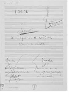 Sonate für drei Violinen solistisch oder orchestral zu spielen: Skizzen by Ernst Levy