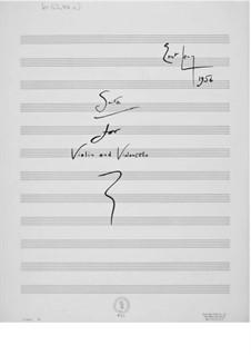 Suite für Violine und Cello: Vollpartitur by Ernst Levy