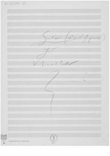 Suite für Violine und Cello: Skizzen by Ernst Levy