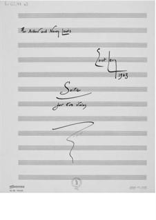 Suite für zwei Bratschen: Vollpartitur by Ernst Levy