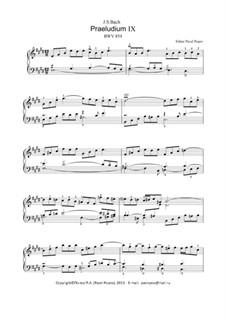 Präludium und Fuge Nr.9 in E-Dur, BWV 854: Für Keyboard by Johann Sebastian Bach