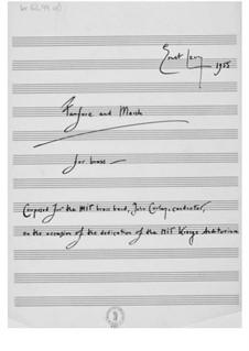 Fanfare und Marsch für Blechblasinstrumente: Vollpartitur by Ernst Levy