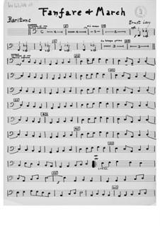 Fanfare und Marsch für Blechblasinstrumente: Stimmen by Ernst Levy