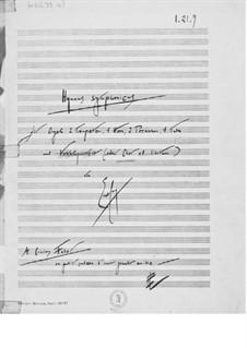 Hymnus symphonicus für Orgel, Blechblasinstrumente und Vokalquartett: Vollpartitur by Ernst Levy