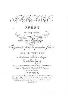 Tarare: Partitur by Antonio Salieri