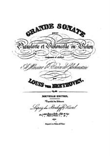 Sonate für Cello und Klavier Nr.3 in A-Dur, Op.69: Stimmen by Ludwig van Beethoven