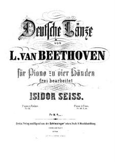 Deutsche Tänze: Für Klavier, vierhändig by Ludwig van Beethoven