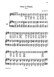 Sieben Lieder, Op.48: Nr.5 Trost in Tränen by Johannes Brahms