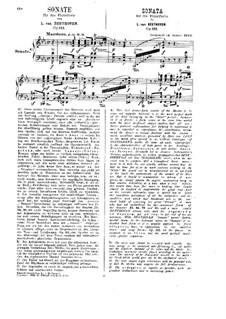 Sonate für Klavier Nr.32, Op.111: Für einen Interpreten (Herausgegeben von H. Bülow) by Ludwig van Beethoven