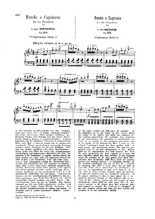 Die Wut über den verlorenen Groschen, Op.129: Für Klavier by Ludwig van Beethoven