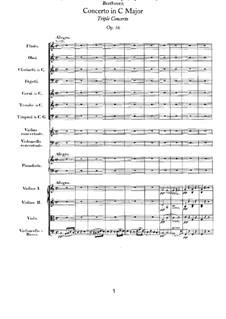 Konzert für Violine, Cello, Klavier und Orchester, Op.56: Allegro by Ludwig van Beethoven
