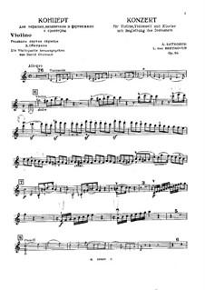 Konzert für Violine, Cello, Klavier und Orchester, Op.56: Violine Solo Stimme by Ludwig van Beethoven