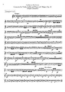 Konzert für Violine, Cello, Klavier und Orchester, Op.56: Trompetenstimmen I, II by Ludwig van Beethoven