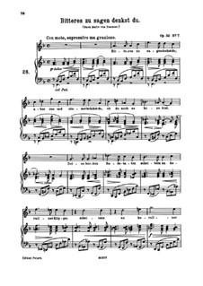 Neun Lieder, Op.32: Nr.7 Bitteres zu sagen denkst du by Johannes Brahms