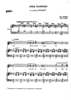 Ah! Che la morte ognora: For tenor and piano by Giuseppe Verdi