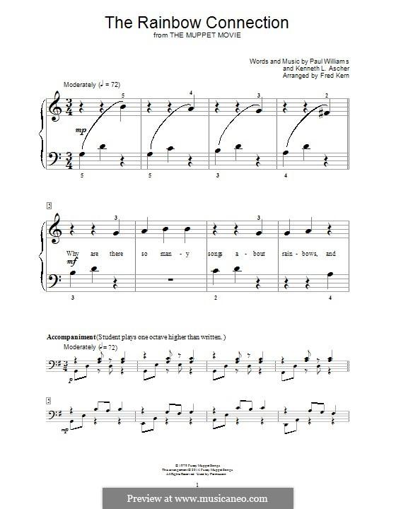 The Rainbow Connection (Kermit the Frog): Für Klavier by Paul H. Williams, Kenneth L. Ascher