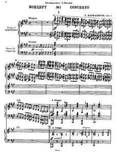 Klavierkonzert Nr.1 in fis-Moll, Op.1: Teil I, für zwei Klaviere, vierhändig by Sergei Rachmaninoff