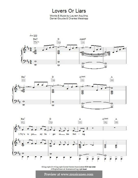 Lovers or Liars: Für Stimme und Klavier (oder Gitarre) by Daniel Goudie, Lauren Aquilina, Charles Westropp