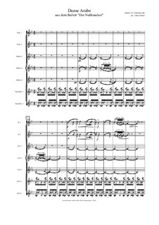 Nr.5 Arabischer Tanz: Für Flötenseptett by Pjotr Tschaikowski