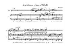 A Variation on a theme Diabelli for piano and flute, MVWV 764: A Variation on a theme Diabelli for piano and flute by Maurice Verheul