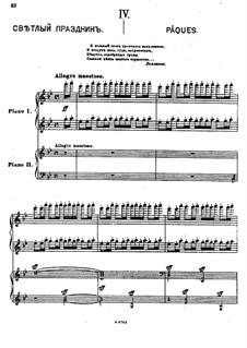 Suite Nr.1, Op.5: Teil IV 'Pâques' by Sergei Rachmaninoff