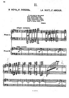 Suite Nr.1, Op.5: Teil II 'La nuit... L'amour' by Sergei Rachmaninoff