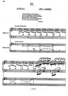 Suite Nr.1, Op.5: Teil III 'Les larmes' by Sergei Rachmaninoff