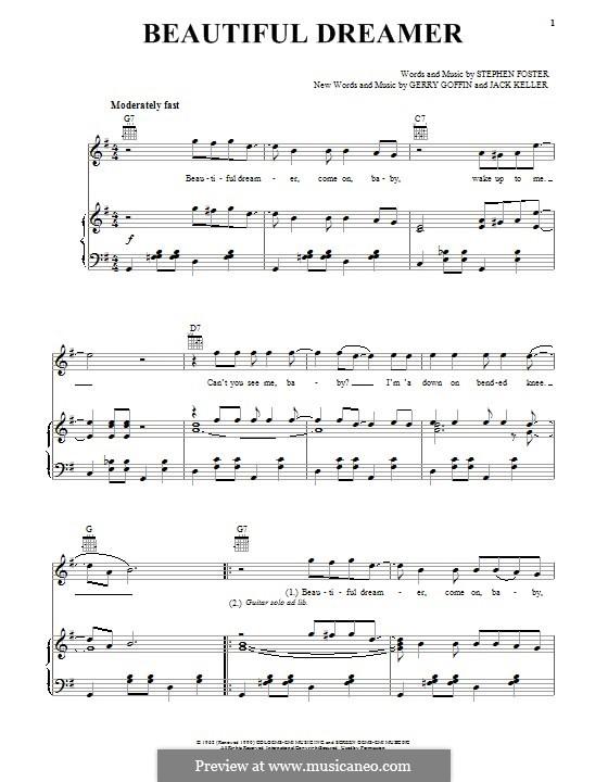 Beautiful Dreamer: Für Stimme und Klavier (oder Gitarre) by Stephen Foster
