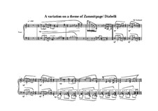 A variation on a theme of Zammitpage/Diabelli, MVWV 765: A variation on a theme of Zammitpage/Diabelli by Maurice Verheul