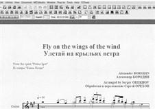 Auf den Flügeln linden Zephyrs: Für Gitarre mit Tab by Alexander Porfiryevich Borodin