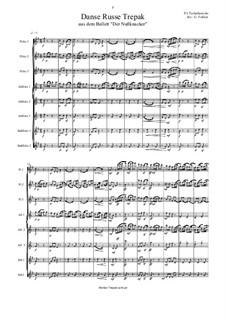 Nr.4 Russischer Tanz (Trepak): Für Flötenoktett by Pjotr Tschaikowski