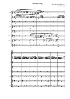 Das Märchen vom Zaren Saltan. Oper: Hummelflug, für Flötenoktett by Nikolai Rimsky-Korsakov