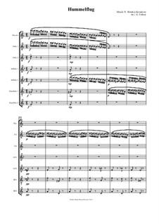 Das Märchen vom Zaren Saltan. Oper: Hummelflug, für Flötenseptett by Nikolai Rimsky-Korsakov