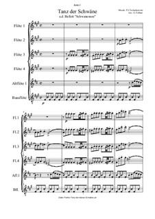 Nr.27 Tänze der kleinen Schwäne: Für Flötensextett by Pjotr Tschaikowski
